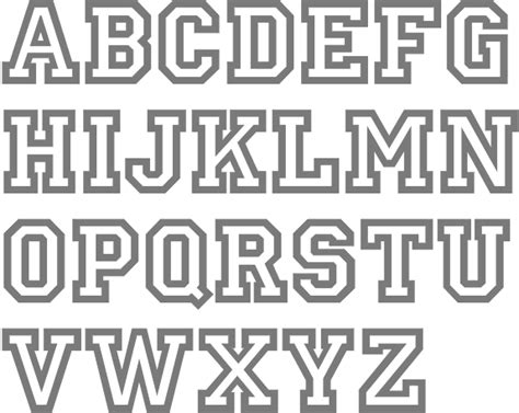 College Letter Font Name Fonts For Athletic Lettering Types Of Sugar Skull Tattoos Stencils