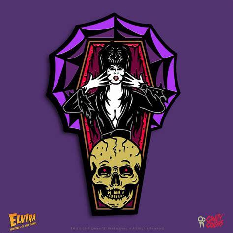 Enamel Pin Infinite Season 2 cavity colors celebrates the of the with new elvira enamel pin daily dead