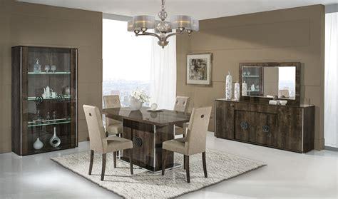 Italian Walnut High Gloss Dining Room Furniture Set High Gloss Dining Room Furniture