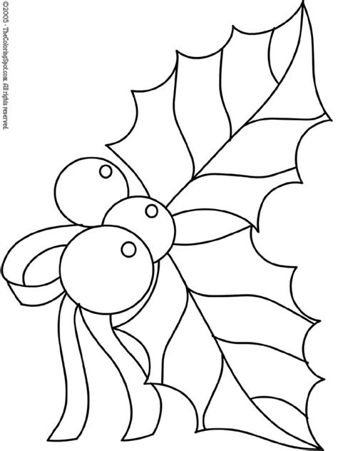 printable holly images christmas coloring pages christmas holly 2 free