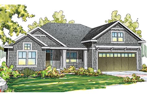 craftsman house plans greenleaf    designs