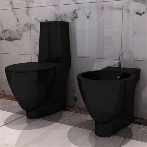 Bidet Einbauen vidaxl co uk black ceramic toilet bidet set