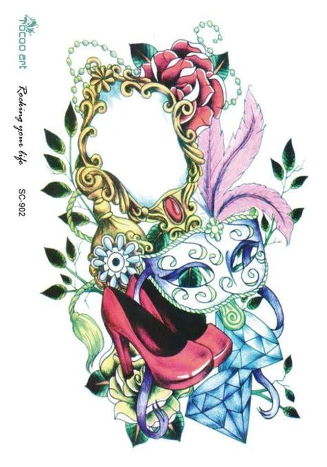 Lc573 Wolf Tatto Stiker Temporer 1000 ide tentang tato bunga di