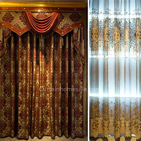 victorian drapes luxury victorian bedroom curtain in gold color chenille