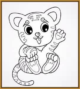 Imagenes de tigres bebes para dibujar y colorear fotos de tigres