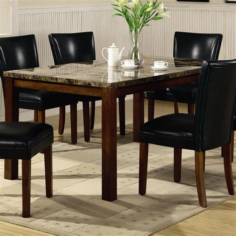 Ottawa Faux Marble Top Dining Set At Gowfb Ca True Marble Top Dining Table