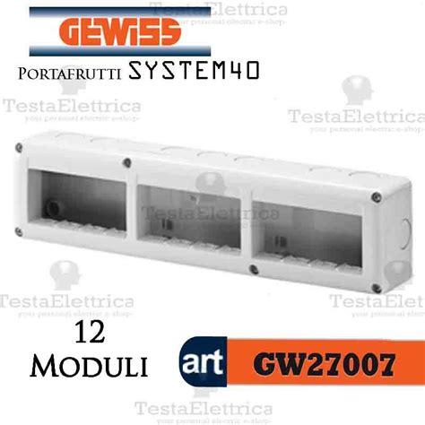 cassetta elettrica gewiss gw27007 cassetta elettrica esterna a 12 posti