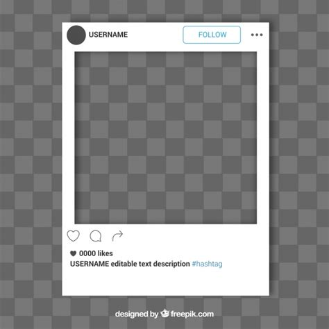 Simple Instagram Frame Template Vector Free Download Editable Instagram Template