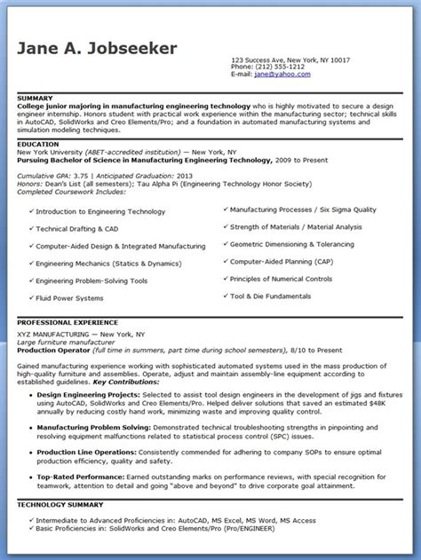 design engineer resume exles design engineer resume sle entry level creative