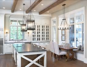Kitchen Nook Lighting Ideas Lake House With Transitional Interiors Home Bunch