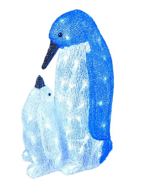 led acrylic penguins christmas light up indoor outdoor