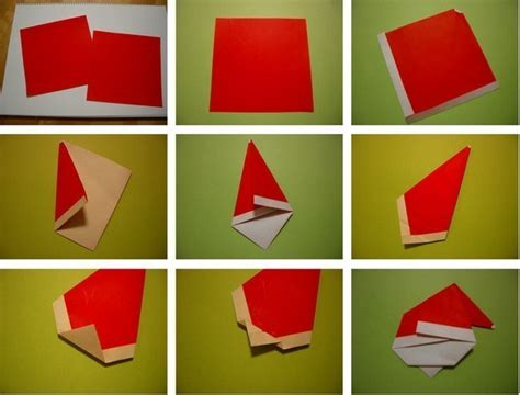 How To Make Santa Origami - wonderful diy mini origami santa
