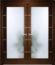 Decorative Etched Glass Interior Doors Italian Wenge Interior Door W Frosted Glass Decorative Strips Contemporary Interior
