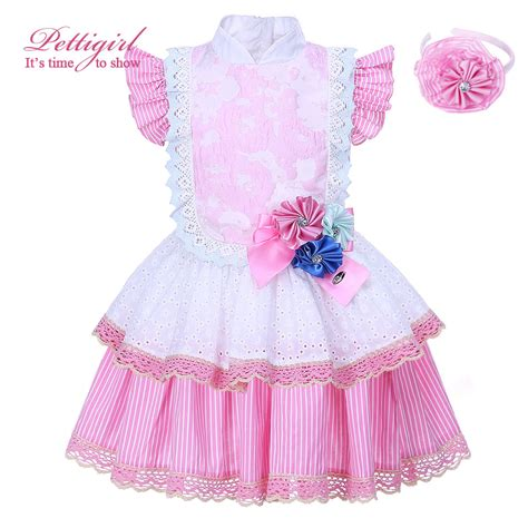 Handmade Childrens Dresses - pettigirl 2017 summer pink fower dresses boutique