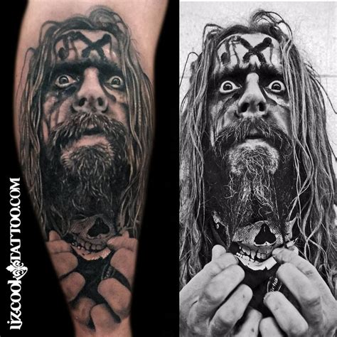 rob zombie tattoos rebel muse tattoos black and gray rob