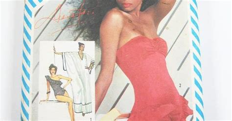 tying your misses and shagging simplicity swimsuit pattern 5874 vintage 1983 misses