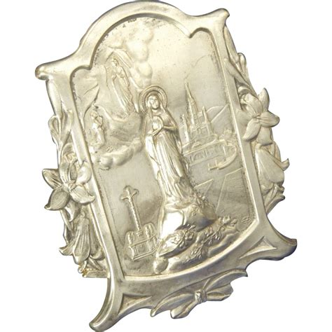 Silver Standing L Nouveau Silver Plated Our Of Lourdes