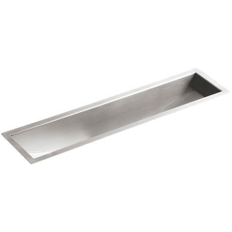 Trough Sink Kitchen Kohler Undertone Undermount Stainless Steel 33 In Single Basin Trough Kitchen Sink Kit K 3155