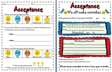 Self Acceptance Worksheets by Self Acceptance Worksheets Wiildcreative