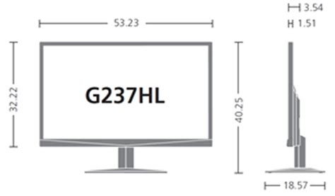 23 Inch Rack Dimensions by Acer 23 Inch Widescreen Led Crystalbrite Hdmi Zeroframe