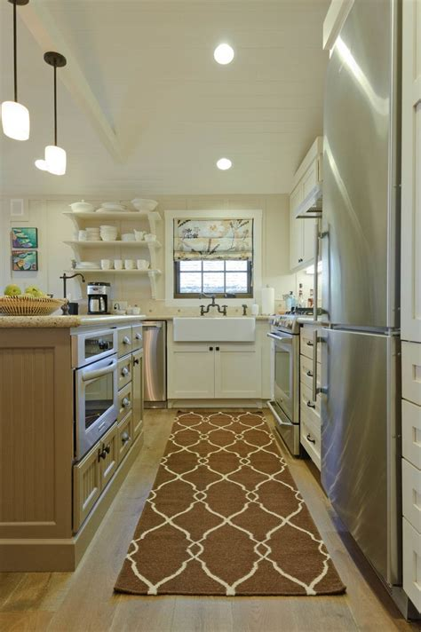 island for galley kitchen a girl can dream can t she galley kitchen with island dream home pinterest