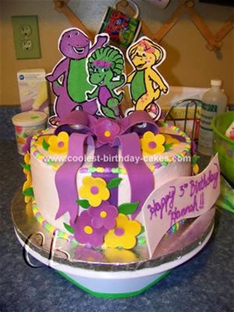 coolest barney  friends birthday cake