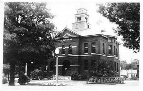 michigan court house grayling michigan court house real photo antique postcard k55500 mary l martin ltd