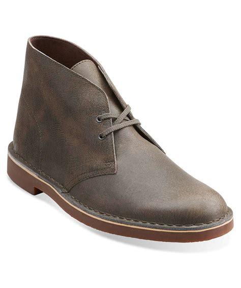 clarks boots for mens clarks s bushacre 2 boots in brown for lyst