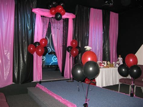 Fashion Show Decorations by Quot The Finished Product Our Pink Black Stage Runway For The Fashion Show At Church