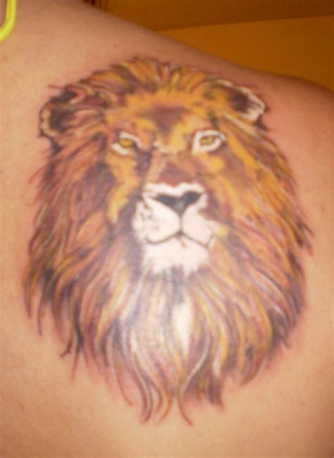 lion shoulder tattoo images designs