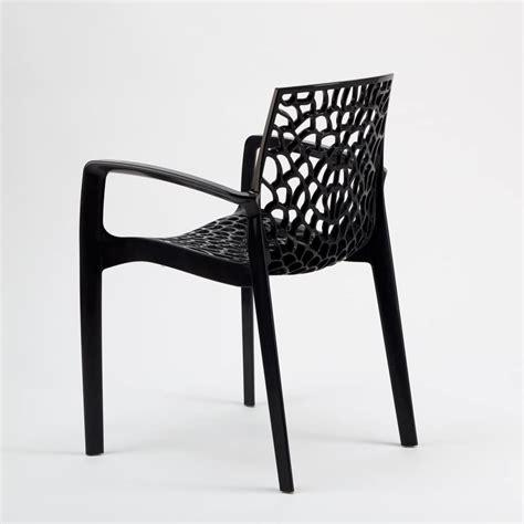 sedie esterni sedia impilabile con braccioli in plastica lucida per