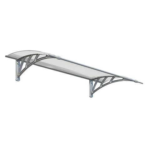 wall awning palram neo 1350 twin wall polycarbonate awning 12 in h x 34 in d 703416 the home