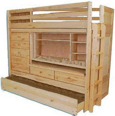 Build Your Own Bunk Beds Cheap Furniture In Mn Build Your Own All In One Loft Bunk Bed With Trundle Desk Chest