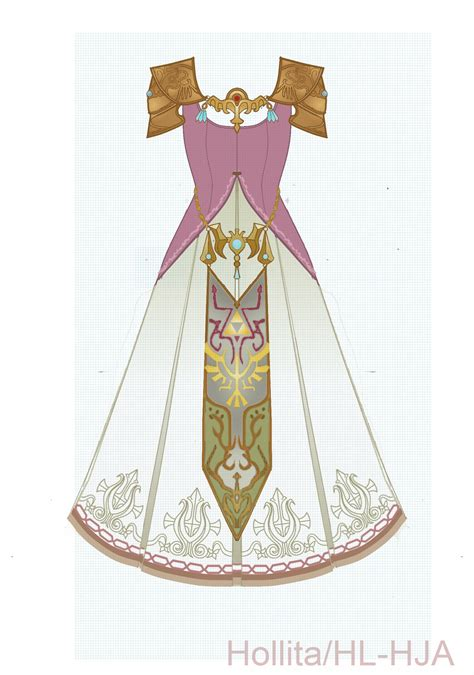 zelda design dress zelda twilight princess cosplay design draft by