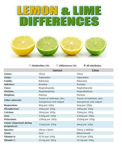 Lemons Vs Limes Detox by Lemon Vs Lime Nutrition Limes And Lemon