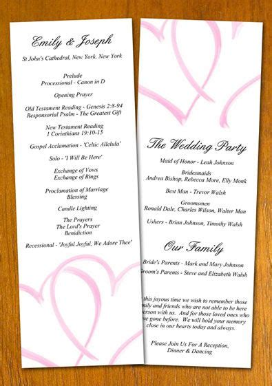 printable wedding program templates free wedding program templates free wedding program