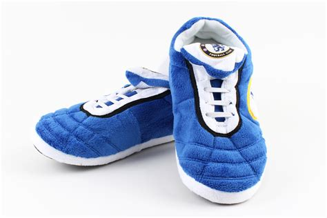 football slippers chelsea fc football indoor inside fur winter boot slippers