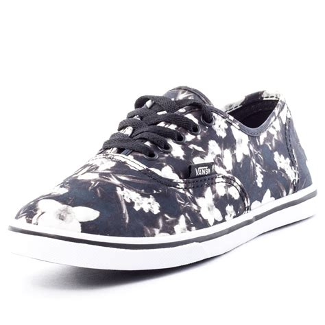 Vans Authentic Floral Premium Icc vans blurred floral authentic lo pro womens canvas black