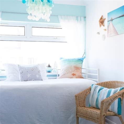 aqua bedroom aqua and white coastal bedroom housetohome co uk