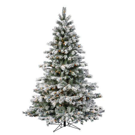 walmart flockedchristmastrees flocked aspen pre lit led tree walmart