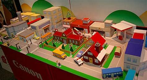 Make A 3d Paper City - papermau mini city diorama for by canon mini