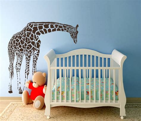 Giraffe Baby Decorations Nursery Large Giraffe Baby Nursery Wall Decals Nursery Vinyl Decal Giraffe Baby Nurseries Nursery And