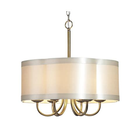 chandelier drum shades six light antique brass scalloped silk shade drum shade chandelier sc576 park lighting