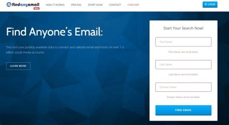 Email Domain Search Free Email Finder By Name Search