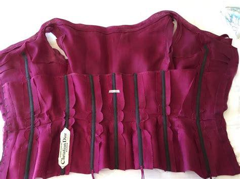 Dress Aa christian a 1954 haute couture pleated purple top