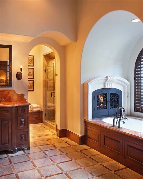 electric fireplace bathroom 31 fabulous bathrooms with fireplaces interior god