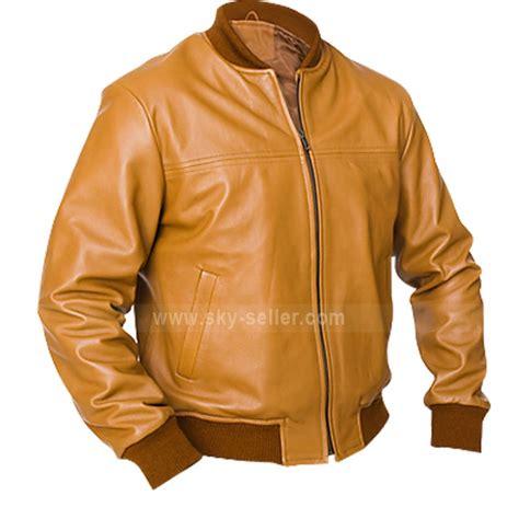 Vintage Jacket Bomber Jaket vintage camel bomber brown leather jacket