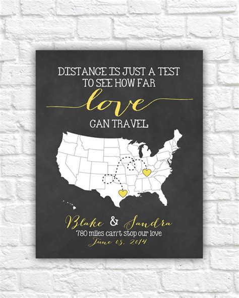 personalized wedding gift customized long distance love personalized wedding map gift for couples art by