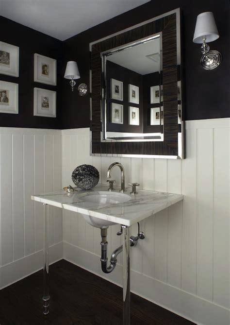 black painted bathroom lucite washstand transitional bathroom carlos