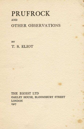 The Lovesong Of J Alfred Prufrock Essay by Quot The Song Of J Alfred Prufrock Quot By T S Eliot Writework